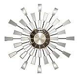 Deco 79 Metal/Mirror Wall Clock, 22-Inch