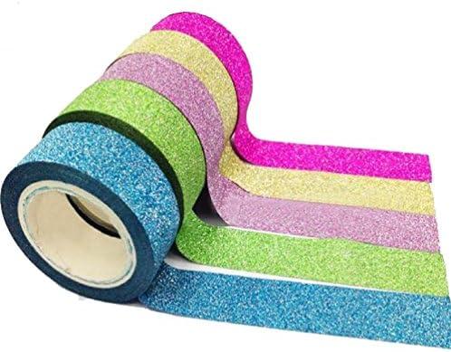 Ruikey テープ かわいいテープ マスキングテープ カラフルテープ 純色 5巻セット
