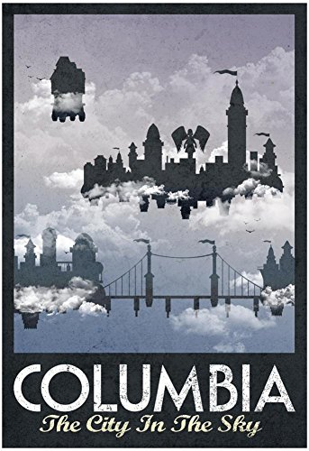 "Poster Revolution Columbia Retro Travel Poster, 13"" x 19"""