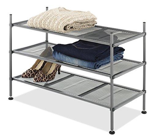 Whitmor 6740 4579 Gunmetal Mesh Shelves product image