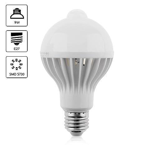 Bombillas LED de rosca E27 con sensor de luz y sensor de infrarrojos PIR 12 W