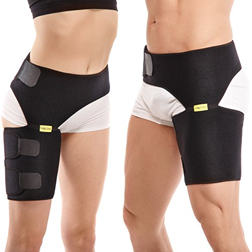 Groin Support Wrap - Compression Sleeve Bandage - Hip for ...