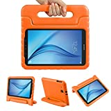 Color Our Life Samsung Galaxy Tab E 9.6 Kiddie Case-Shock Proof Light Weight Convertible Handle Stand Cover for Samsung Galaxy Tab E 9.6 Inch Tablet, Orange