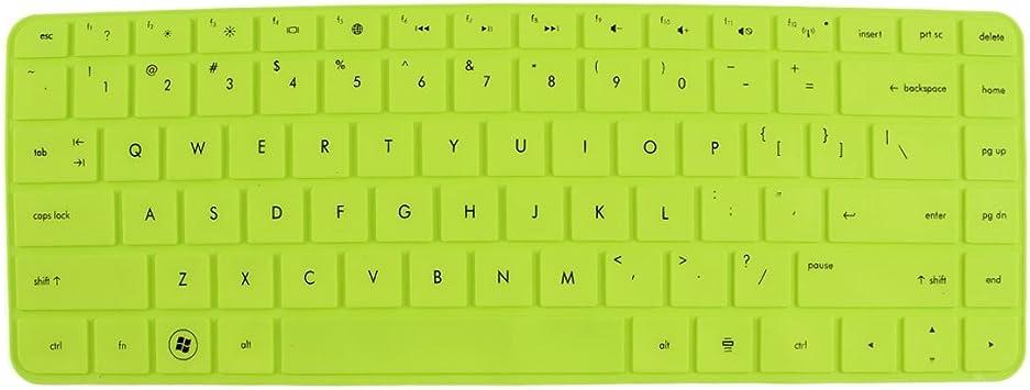 312 mm x 112 mm teclado piel verde de silicona de película ...