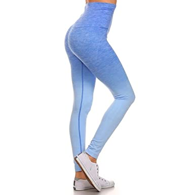 03cc904d4ca7e9 Royal Blue Ombre Dip Dye Leggings at Amazon Women's Clothing store: