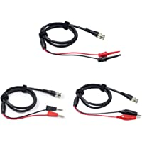 LilyJudy Oscilloscope Probes BNC to Alligator Clips BNC to Hook Leads BNC to Dual Stacking Banana Male Plug Cable