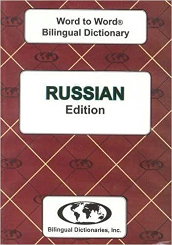 English Russian Russian English Word To Word Dictionary Suitable