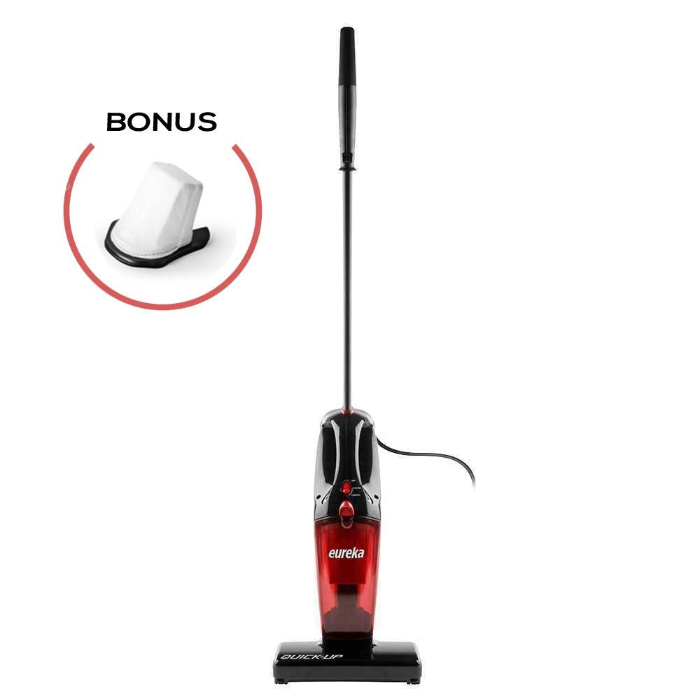 Eureka 169K 2-in-1 Quick-Up Bagless Stick Vacuum Cleaner for Bare Floors and Rugs, 169J+Filter, Light Red (Renewed)