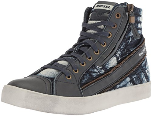 Diesel Mens D-velows D-string Plus Sneaker Medio Alta, Ghiaccio Bianco, 38 1/2 Eu M Us Men Blue (indigo)