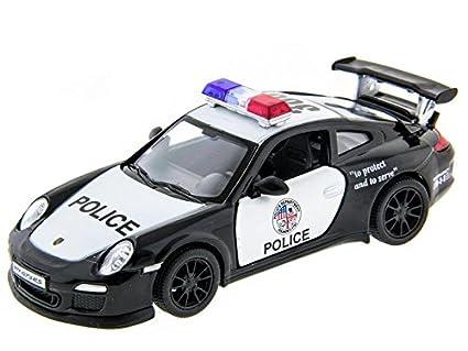 Amazon Com 5 Porsche 911 Gt3 Rs Police Car 1 36 Scale Toys Games