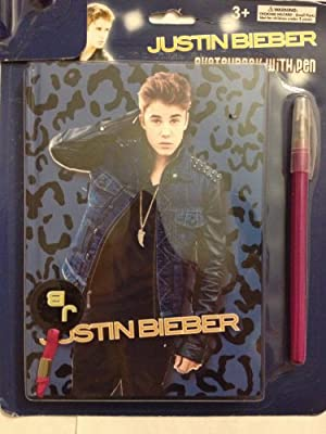 Justin Bieber Sketchbook with Pen