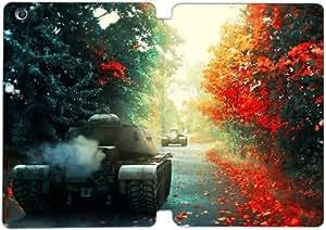 [PU del tirón del cuero] mini iPad funda,World of Tanks [Theme] iPad mini 1 Mini 2 Mini 3 funda [Con Pantalla Protecto] KO8650