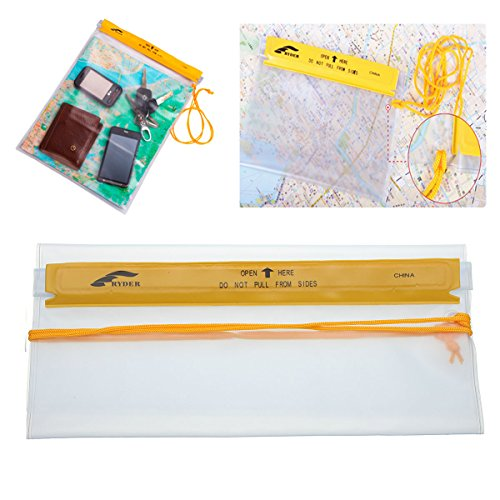 Travel Supplies - Pvc Clear Waterproof Transparent Map Case Holder Camping Hiking Travel - 1PCs