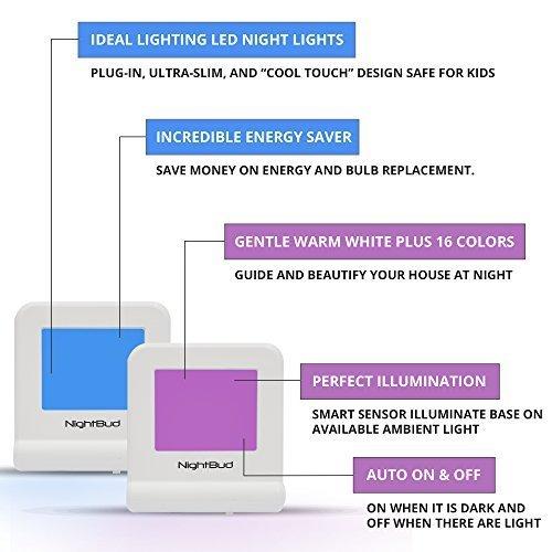 Best LED Night Light for Kids - Perfect Illumination Sensor w/ 16 ...