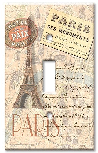 Art Plates Paris II Switch Plate - Single Toggle