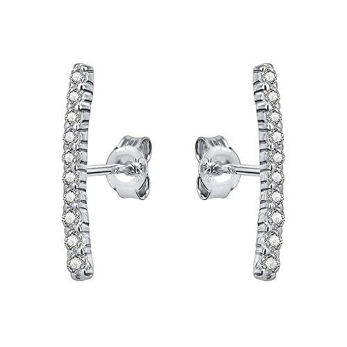 fdd5e1d6d Image Unavailable. Image not available for. Color: AoedeJ Bar Shape Ear  Crawler Cuff Earrings 925 Sterling Silver CZ Stud Earring ...