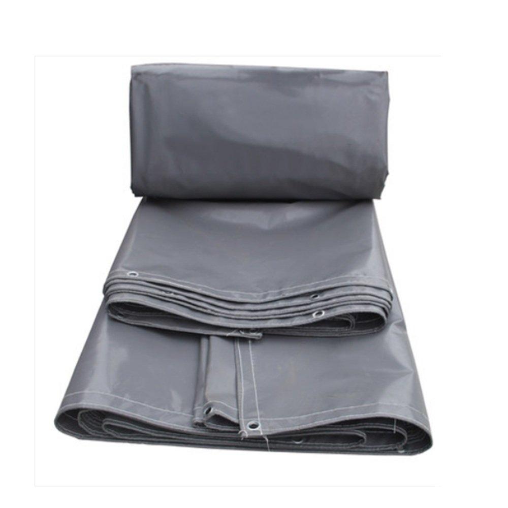 AINIYF Tela impermeabilizzante Impermeabile a Prova di Fiamma ad Alta Resistenza ignifuga Impermeabile in Tela Cerata - Grigio 600 g m² (colore   2.9  3.9m)
