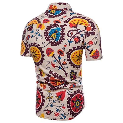 Floral Vintage Camisa Aimee7 Sales camiseta de Crazy negocios la Chic Casual hawaianas o Casual Camisas Impreso Hombre Gran Oficina Elegante Manga corta Camiseta verano tama de de 77vqzr