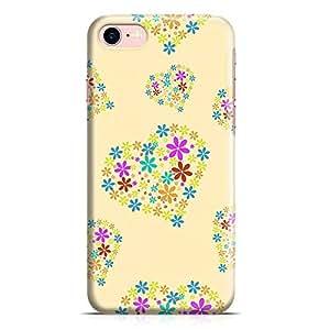 Loud Universe Valentines Gift Love Stars Heart Pattern New Slim Wrap Around iPhone 7 Case - Yellow