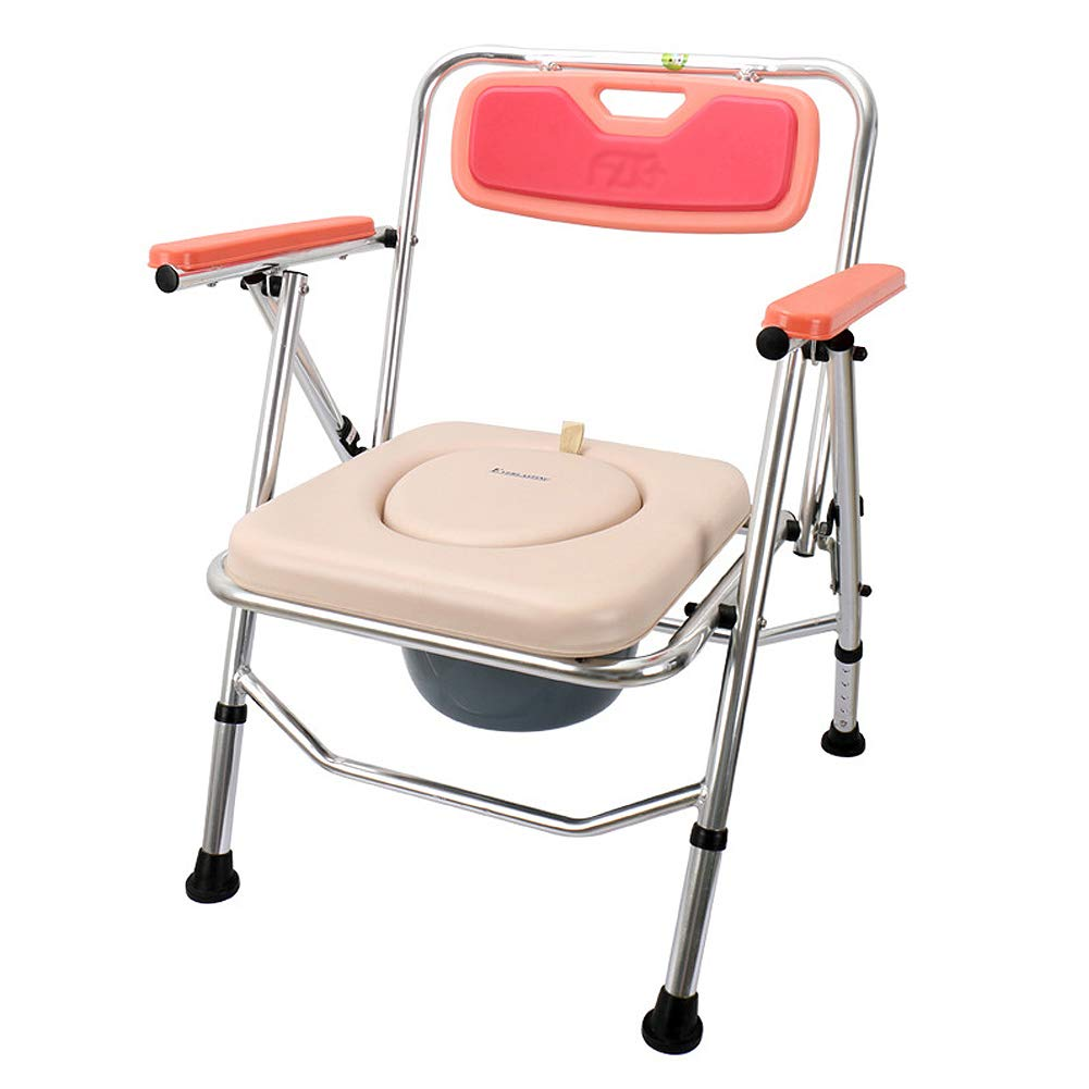 WYQWANLJX Foldable Bath Chair, Household Commode Chair, 2-in-1 Multi-Function Shower Stool, 5 Files Adjustable, Can Bear 100Kg by WYQWANLJX