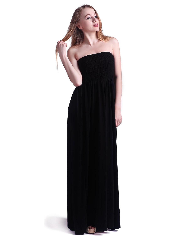 Black Strapless Long Dress
