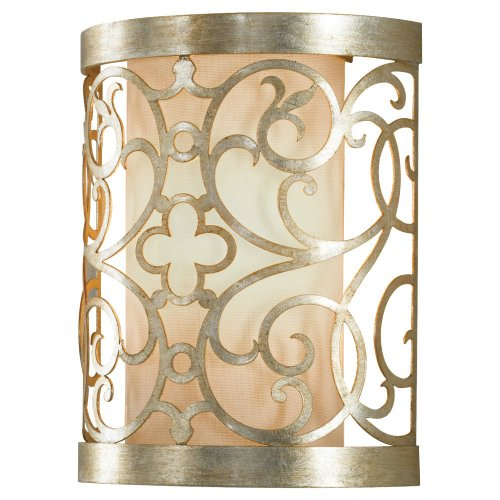 Feiss WB1485SLP Arabesque Wall Sconce Lighting, 1-Light, 60watts, Silver Leaf Patina (8