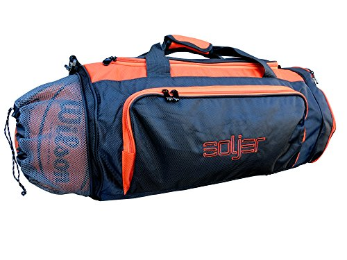 Basketball Sports Gym Bag with Wet Compartment (Orange) (Basketball Gym Bag)
