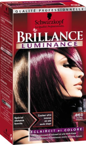 schwarzkopf brillance coloration permanente luminance ultra violet 860 amazonfr hygine et soins du corps - Coloration Cheveux Violet Fonc