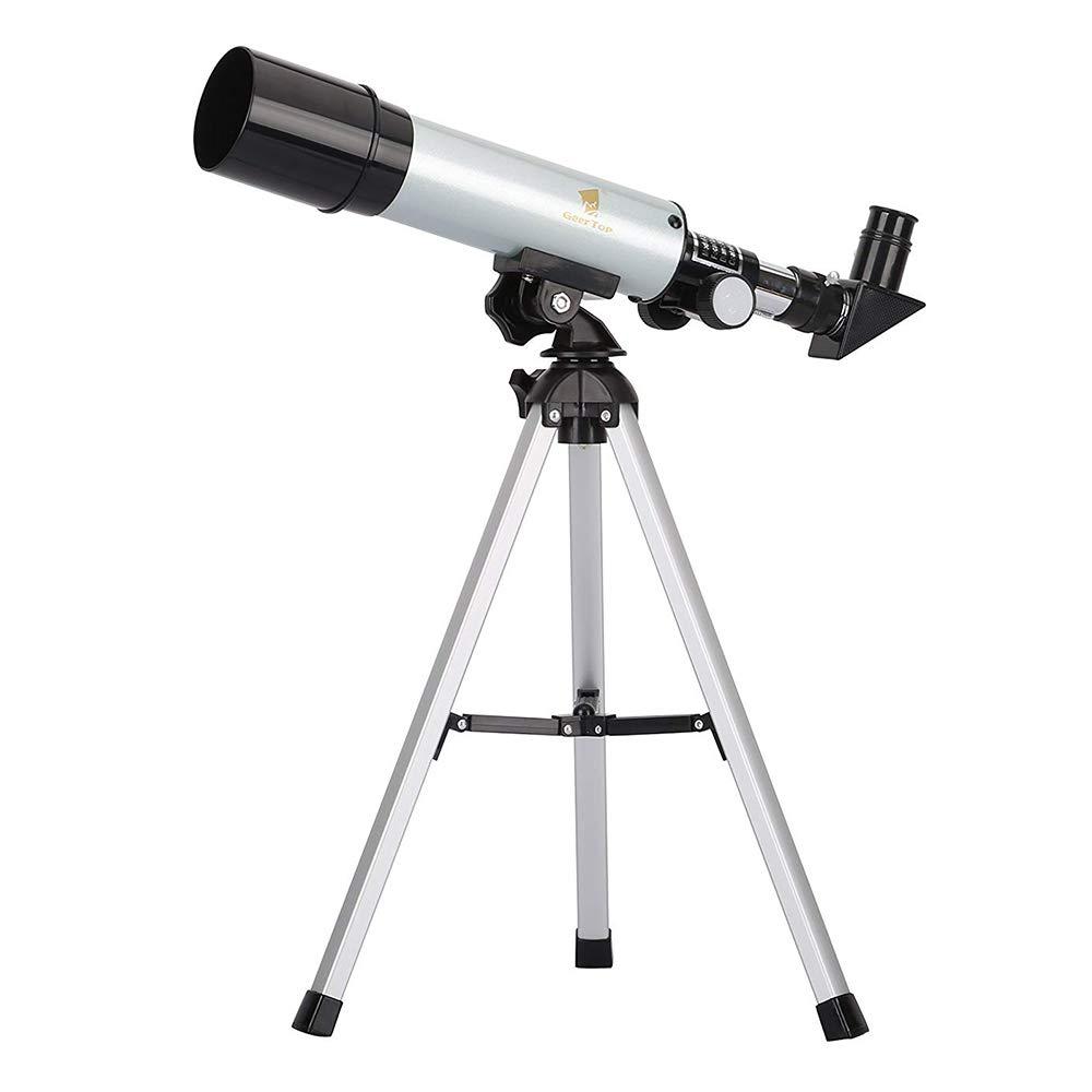 GEERTOP® Telescopio Rifrattore AZ 50/360 Con treppiedi da tavolo - 18/27/60/90X - Adatto ai Bambini Osservazioni Astrologiche Astronomico e Birdwatching 4331894091