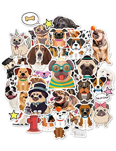 HaokHome S-006 176pcs Funny Dog Stickers for Teens Kids Cars Stickers for Water Bottles Laptop Scrapbooking Firefighters Hydro Flask Stickers Vsco Stickers Wall Stickers Room Decor -