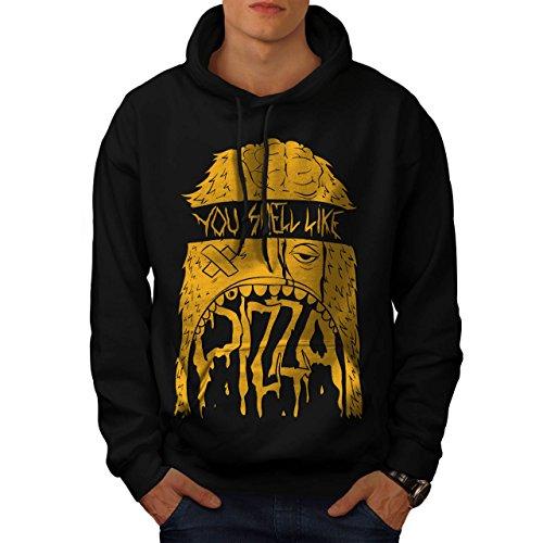 Zombie Pizza Monster Fast Food Men XXXXL Hoodie | Wellcoda (Zombie Pizza)