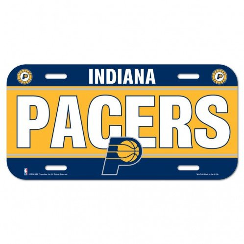 Indiana Pacers Official NBA License Plate by Wincraft by WinCraft