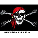 *** PROMOTION *** Drapeau Pirate (bandana) - 150 x 90 cm