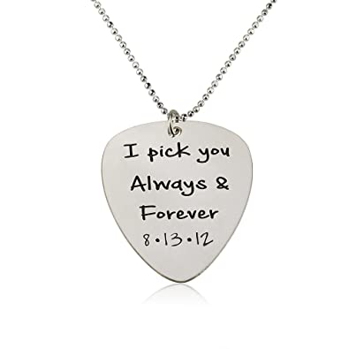 you guitar necklace music engraved gift pendant stamped hugerect customize pick birth anyway want personalized hand it product birthday