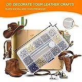 240 Sets Leather Rivets, Double Cap Rapid Rivet