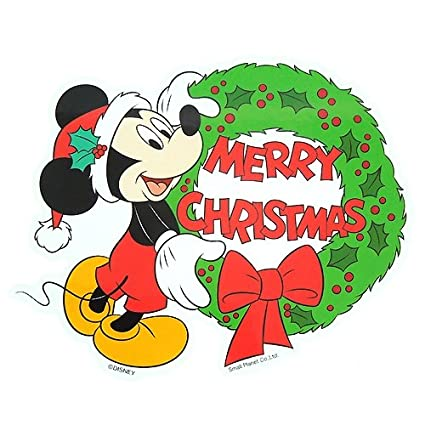 mickey mouse lease merry christmas sticker disney character goods store - Merry Christmas Mickey Mouse