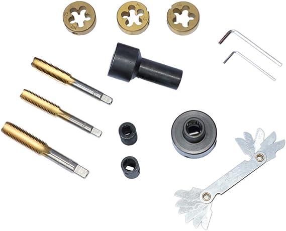 MRCARTOOL 12-Piece Tap and Die Set Car Wheel General Repair Tool for Wheel Studs /& Nuts Metric and SAE Standard Tap and Die Rethread Set M12 * 1.25, M12 * 1.5, M14 * 1.5, M12 * 1.25, M12 * 1.5, M14 * 1.5
