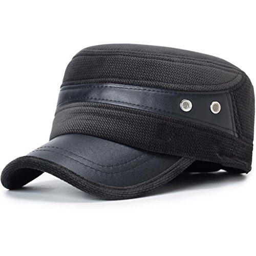 pu Gorro cuero sombrero Middle Grey Men's de ZHAS Moda de Aged Hombre Invierno Otoño Hat 00aqX8