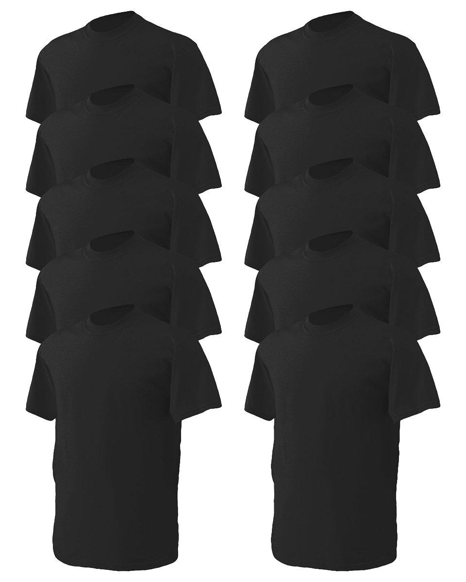 Gildan SHIRT メンズ B00K824R86 Large|ブラック ブラック Large