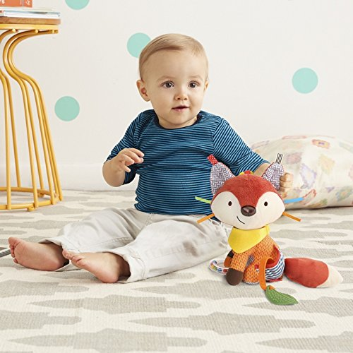 51oXtABu6EL - Bandana Buddies Baby Activity and Teething Toy with Multi-Sensory Rattle and Textures, Fox