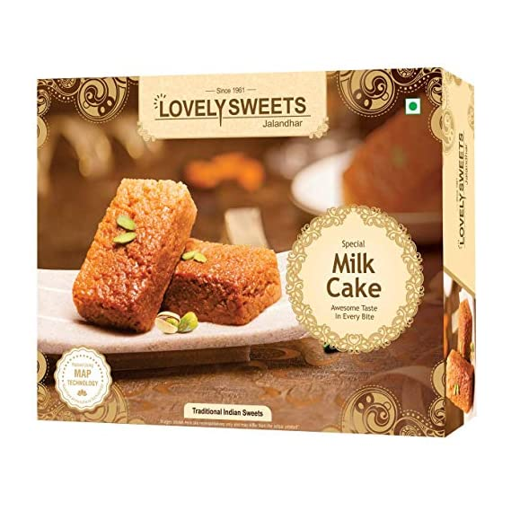 Lovely Sweets - Milk Cake | Authentic Indian Dessert | Diwali Gift Box | Ideal for Family and Seniors |