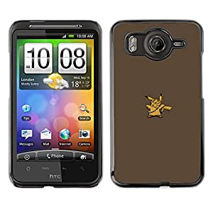 Caucho caso de Shell duro de la cubierta de accesorios de protección BY RAYDREAMMM - HTC G10 - Pikach Wookie