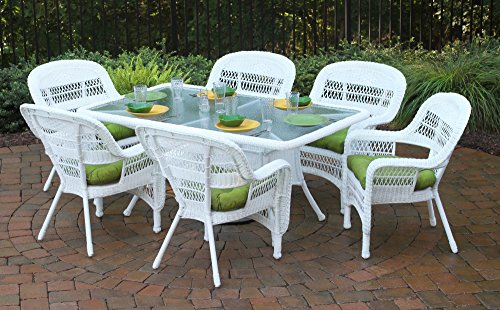 Tortuga US PSD-66-WH MONTL 7 Piece Portside Dining Set with Coastal White Wicker Review
