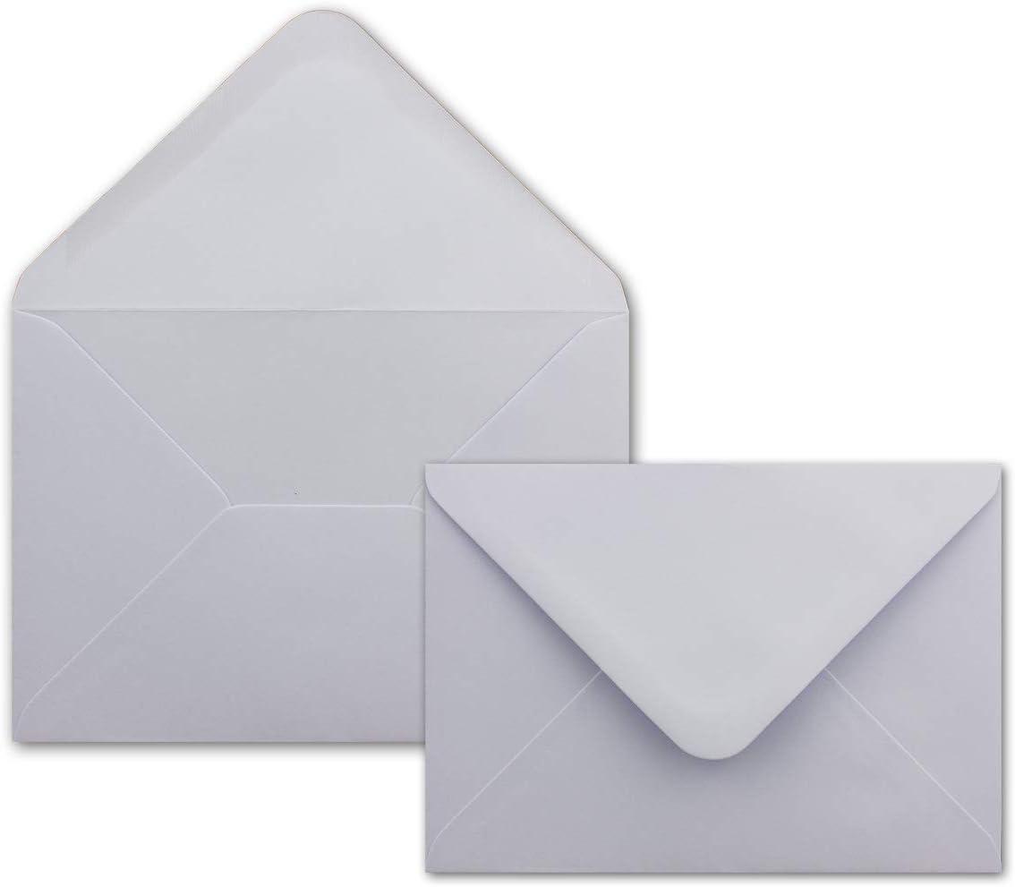 - DIN C6 Briefumschl/äge 11,4 x 16,2 cm 160 g//m/² Lila 50 Kartenset mit Umschl/ägen Flieder 100 g//m/² Nassklebung Colours-4-you - DIN A6 Faltkarten 14,8 x 21 cm