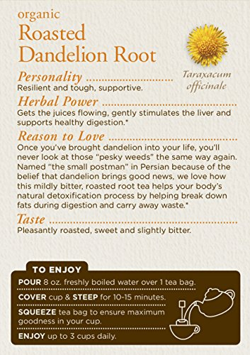 032917001658 - Traditional Medicinals Organic Roasted Dandelion Root Tea, 16 Tea Bags (Pack of 6) carousel main 2