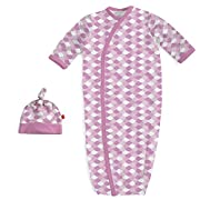 Magnificent Newborn Baby Baby Magnetic Modal 2 Piece Gown and Hat Set