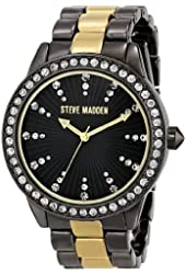Steve Madden Women's SMW00010-44 Crystal-Accented Watch