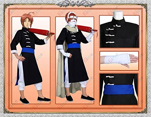 [Instant high quality cosplay costumes GINTAMA (Silver sometimes) wind the night rabbits of kamui cosplay costume Halloween disguise fired in from training clothing culture Festival anime (female L)] (Night Wind Costume)