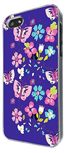 839 - Butterflies Floral Shabby Chic Roses Design iphone 5 5S Coque Fashion Trend Case Coque Protection Cover plastique et métal