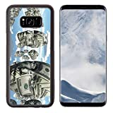 Liili Premium Samsung Galaxy S8 Plus Aluminum Backplate Bumper Snap Case Symbolic floating faces with sureface of USA Currency IMAGE ID 14299861